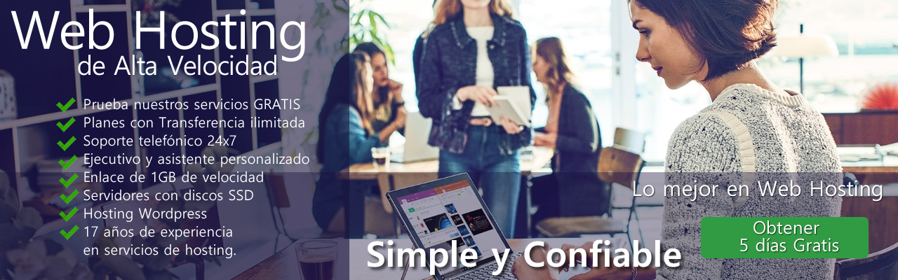 2do año de Hosting GRATIS