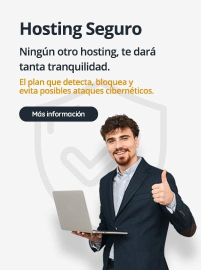 Ningún otro hosting, te dará tanta tranquilidad.